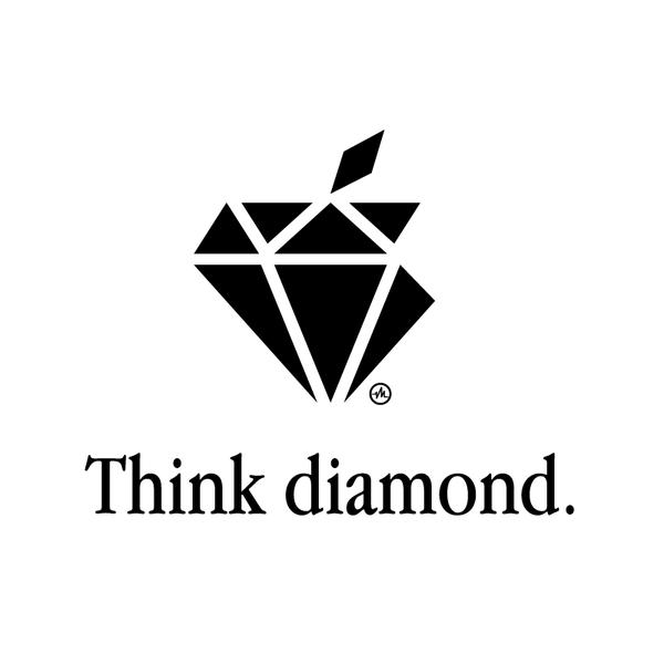 Creative Apple Logos Diamond