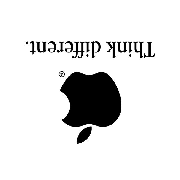 Creative Apple Logos Upside Down