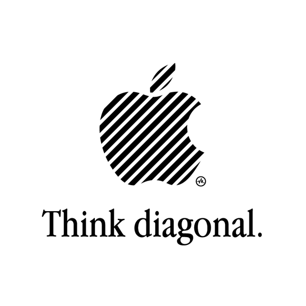 Creative Apple Logos Diagonal