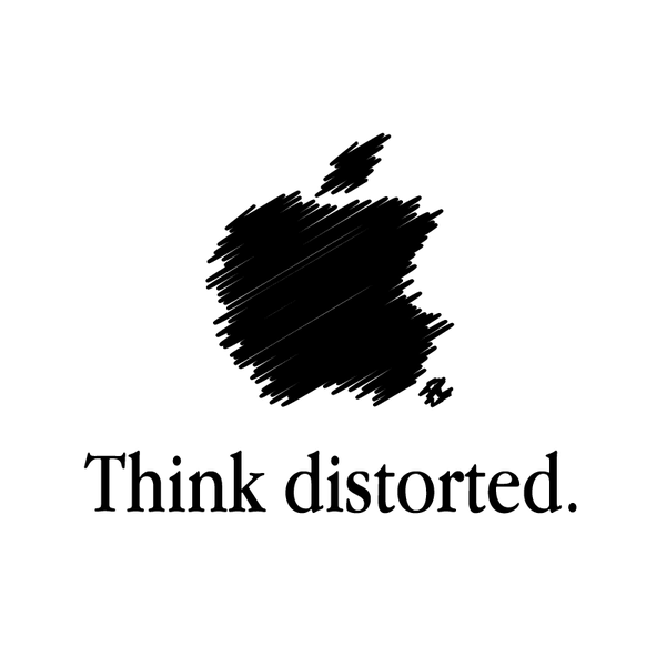 Creative Apple Logos Distorted