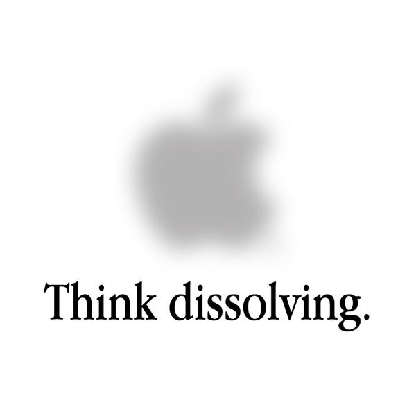 Creative Apple Logos Dissolving