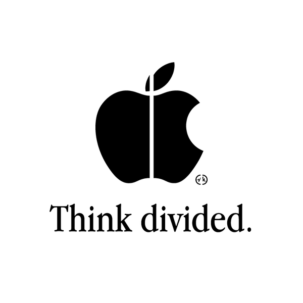 Creative Apple Logos divided