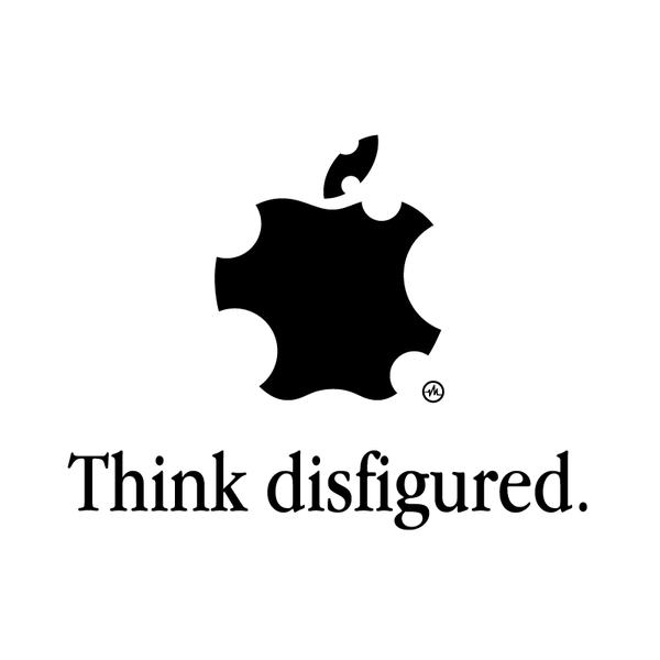 Creative Apple Logos Disfigured