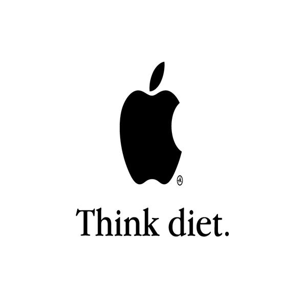 Creative Apple Logos Diet