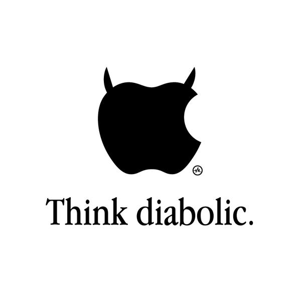 Creative Apple Logos Diabolic