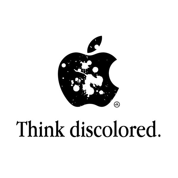Creative Apple Logos Discolored