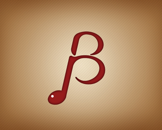 25 Logo With Letter B